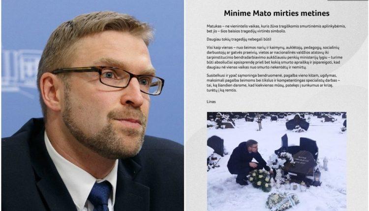 Ministras Linas Kukuraitis pasiaiškino dėl visuomenę įsiutinusios nuotraukos
