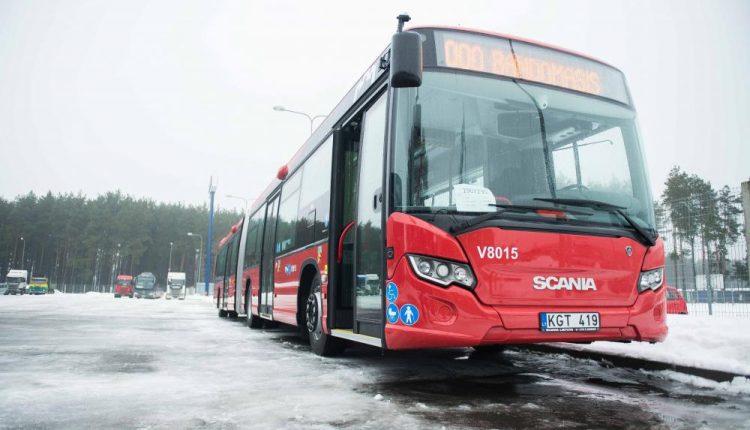 Sostinėje pristatyti nauji viešojo transporto autobusai