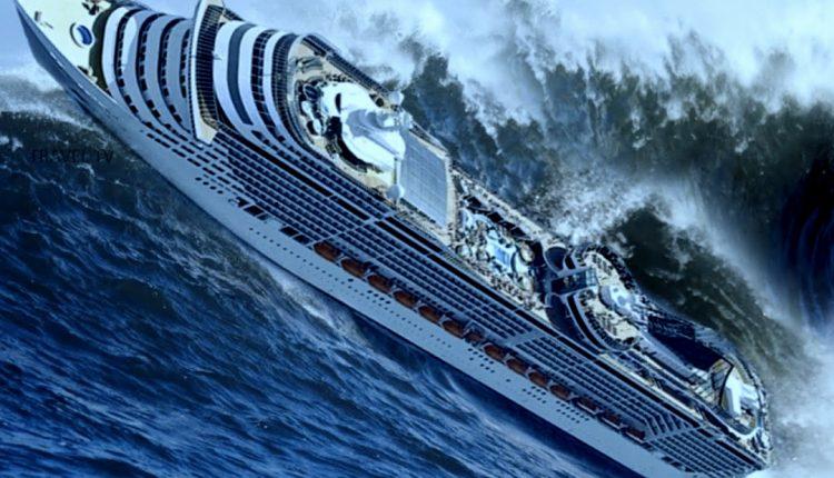 Akimirka prieš smūgį: jūrininkas užfiksavo mirtį nešančias milžiniško dydžio bangas